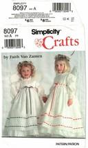 Simplicity #8097 Child's Dress Pinafore & Wings Craft Pattern Size 2-6 U... - $12.47