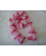 Crochet Scarf - Boho Chic Fun and Flirty Ladies Varigated Pink Sashay Ru... - $19.99