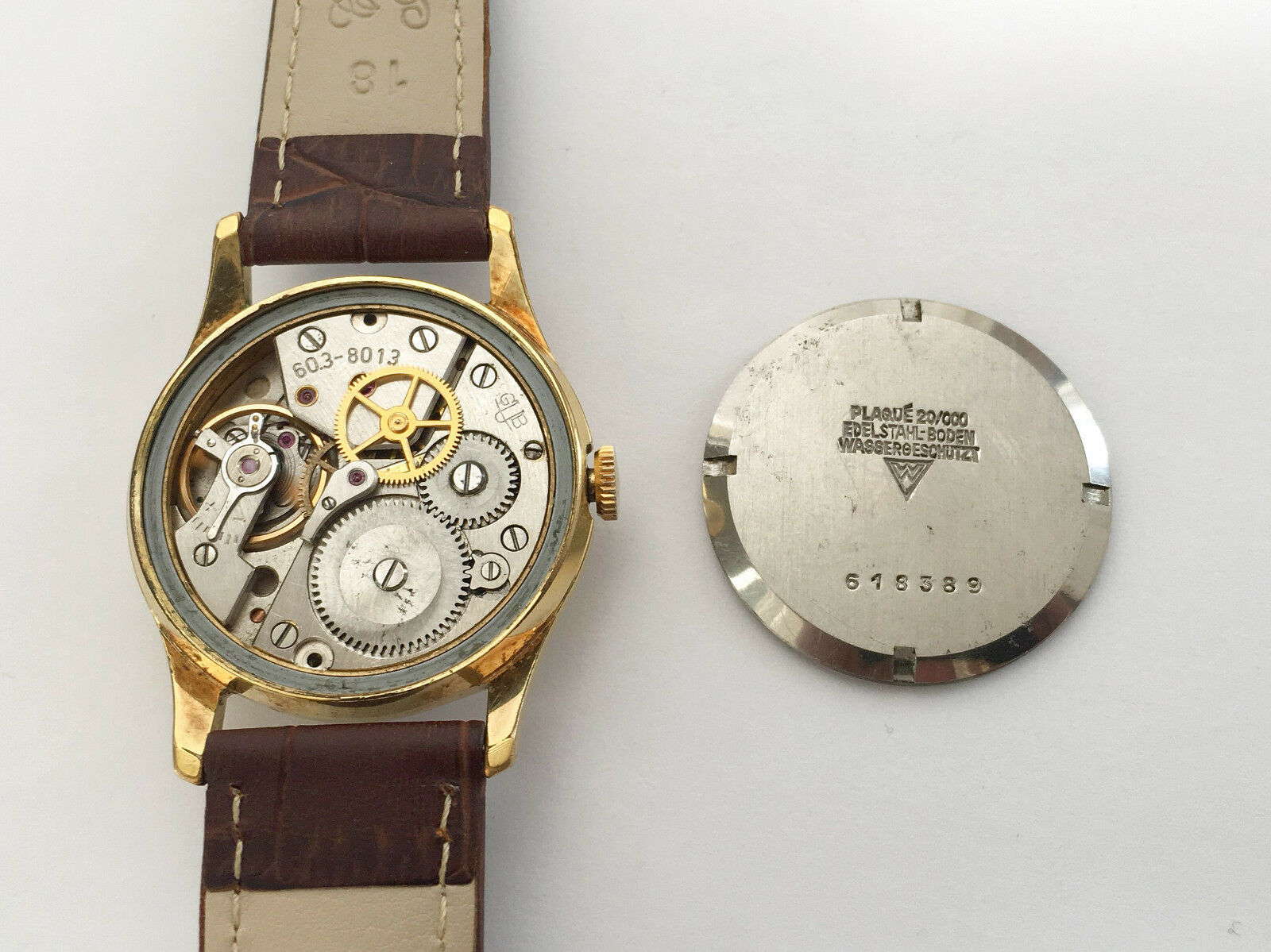 Vintage Rare GLASHUTTE GUB Q1 Chronometre cal. 60.3 Mechanical Germany Watch image 8