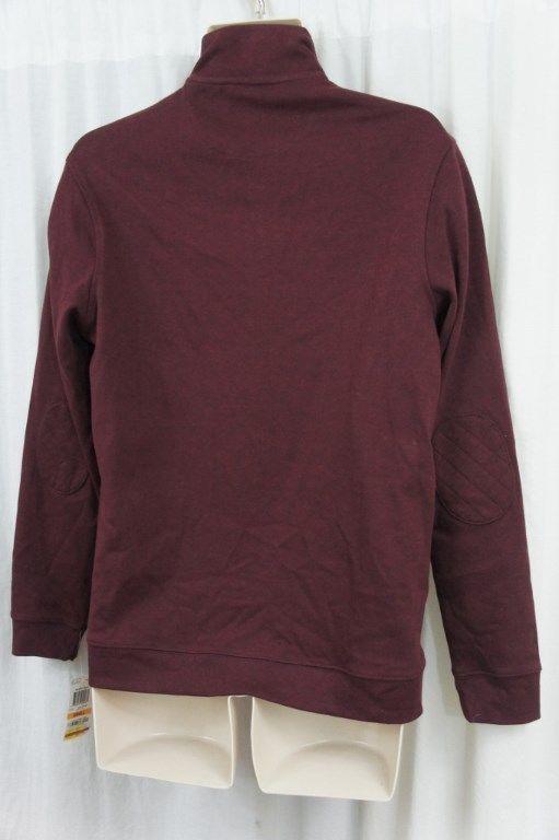 Tasso Elba Mens Sweater Sz S Port Heather Half-Zip Pullover Sweater