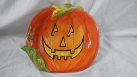 "Susan Winget 8"" Halloween Pumpkin Candy Dish - $9.89"
