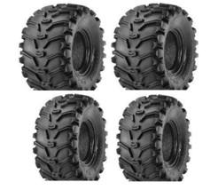 2 FRONT 25-8-12 & 2 REAR 25-10-12 ATV Kenda Bearclaw TIRES - $348.10