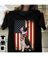 Boston Terrier US Flag Dog Lover Men T-Shirt Black Cotton S-6XL - $15.98+