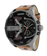 Diesel DZ7332 Mr Daddy 2.0 Chronograph  Watch Brown Leather Band Black Dial - £108.29 GBP