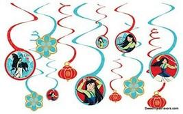 MULAN PRINCESS Party FAVOR Birthday Danglers Swirl Hanging Decorations 1... - $7.87