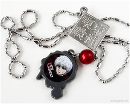 Anime Character Pendant, Red, Gray, Stainless Steel - $15.00