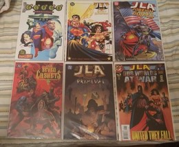 JLA: haven, gods & monsters, foreign bodies, 7 caskets,  primeval, our w... - $35.00