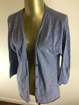 L.O.G.G. by H&M Button Down 3/4 Sleeve Blue Casual Shirt Top Women's Size La - $20.20
