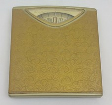 Vintage Counselor Bathroom Scale 1970s Gold Mid Century Modern Art Deco ... - $19.66