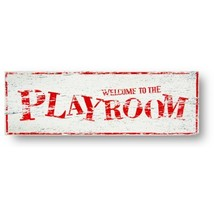 Kids Rustic Wooden Sign Welcome To The Playroom Child Style 6 x 18  Item... - $22.00