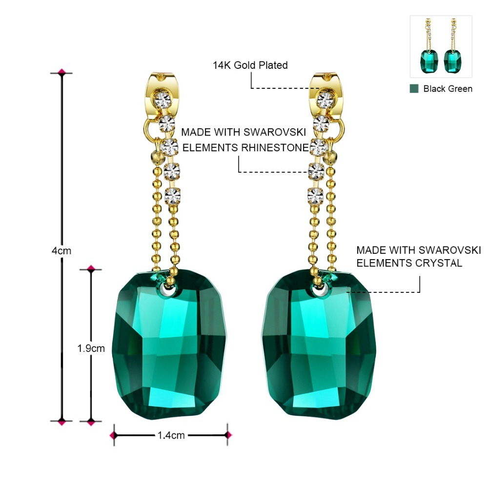 Neoglory Made With SWAROVSKI Elements Crystal Big Chandelier Drop Earrings for W