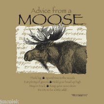 Sweatshirt Advice From a Moose Small NWT Nature Fun Quality Tan NEW - $25.25