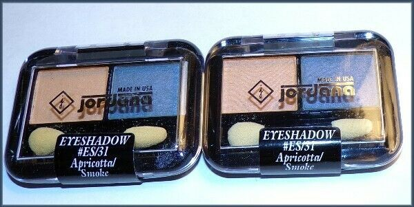 Primary image for 2 X NEW Factory Sealed JORDANA Eyeshadow Duo  Apricotta & Smoke  #ES/31