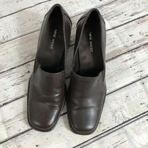 Nine West Brown Block Heel Loafer - Size 7 image 2