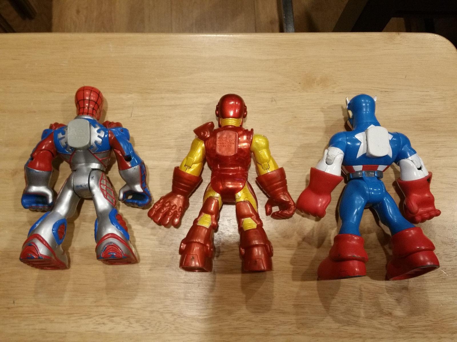 "Marvel Captain America Iron Man Spider-man 6"" Playskool Action Figures 2002 2005"