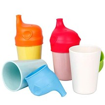 4 PCS Bamboo Kids Cups - Eco Friendly Degradable Toddler Drinking Cups -... - $21.97