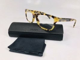 ✳New Prada VPR 19P 7SO-1O1 Yellow Havana Eyeglasses 53mm with Case & Cloth - $128.70