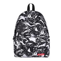 large capacity lady creative fashion black leaves waterproof shoulder ba... - $28.00