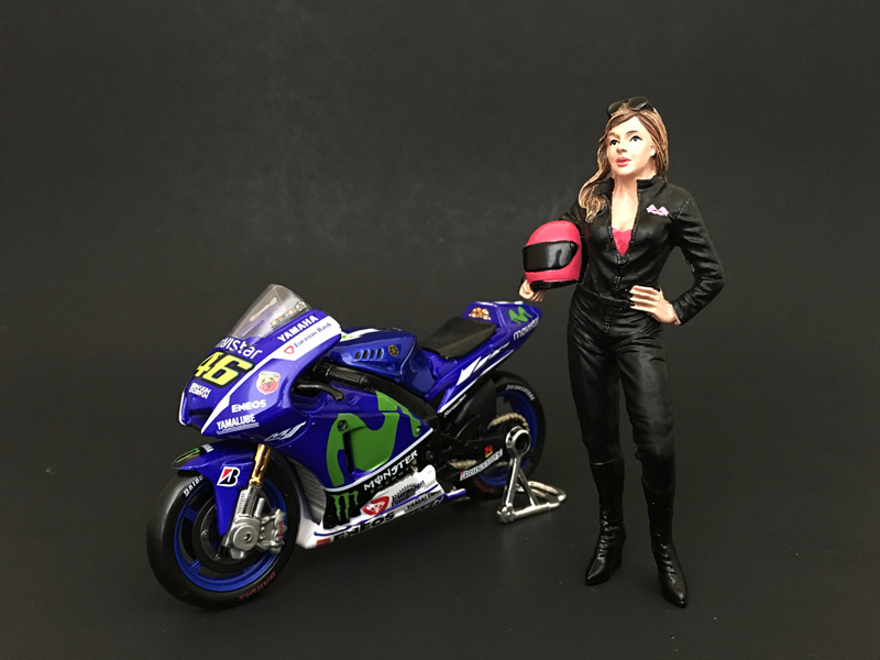 Female Biker Figure For 1:18 Scale Models by American Diorama