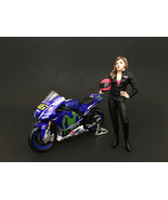 Female Biker Figure For 1:18 Scale Models by American Diorama - $17.14