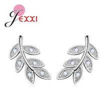 2020 New Simple Fashion 925 Sterling Silver  Leaf Olive Branch Stud Earr... - $8.54