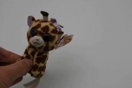Ty Beanie Babies Boos SAFARI Giraffe Backpack Keychain Plush Purple Glit... - $5.57