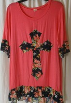 Lilypad blouse size XL multicolored 1/2 sleeve Rayon ladies casual - $13.85