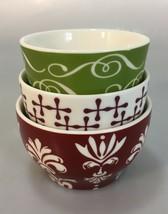 Starbucks Set of 3 New Bone China Nesting Tea Coffee Cup Sugar Snack Bo... - $33.81