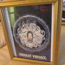 Kate Moss Model Versace Liquor Ad Framed - $13.95
