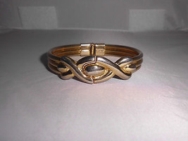 VTG Gold Tone Infinity Hinge Closed Bangle Bracelet - $9.90