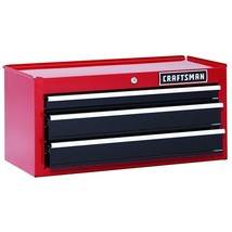 "New Craftsman 26"" 3-Drawer Heavy Duty Middle Chest - Red/Black - Free Shippping - $199.99"