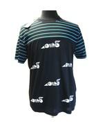 B-489975 New Prada Black Light Blue Race Car car Short Sleeve T-Shirt Si... - $206.11