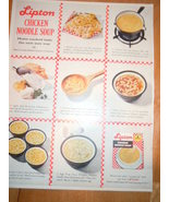 Vintage Lipton Chicken Noodle Soup Print Magazine Advertisement 1961 - $4.99