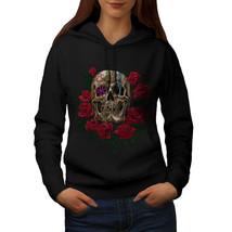 Rose Metal Death Skull Sweatshirt Hoody Skull Rose Women Hoodie - $21.99+