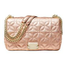 Michael Kors Sloan Large Quilted Floral Chain Shoulder Bag, Light Rose $328 - $193.49
