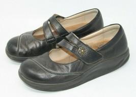 Finn Comfort Size 6.5 M Black Mary Jane Hook & Loop Comfort Orthopedic Shoes image 2