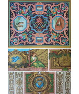 BAROQUE Mosaics & Paintings at Versailles Lebrun - A. RACINET Color Print - $25.20