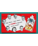 CAMEL CIGARETTES - 1950s AD Ink Blotter Radio Personalities Dick Powell ... - $4.94
