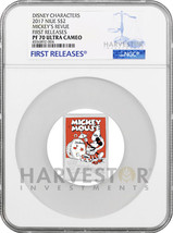 2017 DISNEY POSTER COIN - MICKEY'S REVUE - NGC PF70 FIRST RELEASES - W/OGP - $167.99