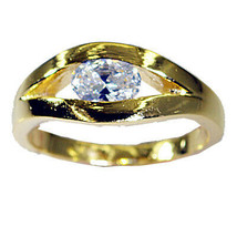 enticing White CZ Gold Plated White Ring Natural suppiler gift US  - $29.99