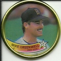 1989 Topps Coins #41 Mike Greenwell NM-MT Red Sox - $0.99