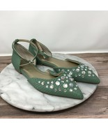 Seychelles Anthropologie Rule Of Thumb Womens Size 6 Green D'Orsay Flats - $39.95