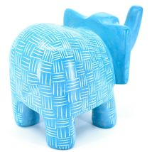Vaneal Group Hand Crafted Carved Soapstone Large Heavy Blue Elephant Sculpture image 4