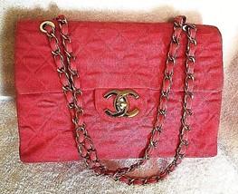 CHANEL Authentic Jumbo Matelasse Pink Denim Flap Gold Chain shoulder Bag... - $4,143.15