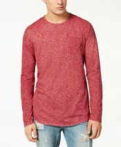 American Rag Men's Heathered Long Sleeve T-Shirt, Worn Red, Size XXL, MS... - $15.83