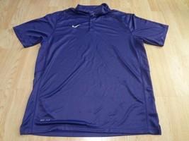 Men's Nike Dri Fit L Purple S/S Polo - $15.88