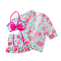 Emmababy 3PCS Kids Girls Swimwear Skirts Bikini Set Baby Swimsuit Flower... - $11.57+