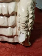"""ANTIQUE 1930s CHALKWARE WOMAN WITH WOLFHOUND BORZOI DOG VERY HEAVY 10.5""""x 6 3/4"""" image 5"""