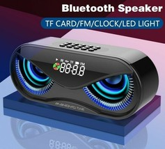Cool Owl Design Bluetooth Speaker LED Flash Wireless Loudspeaker FM Radi... - $48.88 CAD