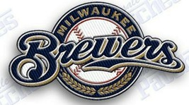 MILWAUKEE BREWERS   iron on embroidered embroidery patch baseball  logo mlb LA - $10.95